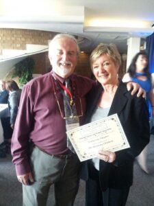NODA prize giving - Helen Farrar and Terry Rymer
