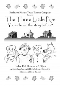 Three Pigs Poster A4