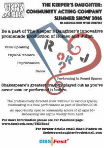 RorJDissFest2016 actor recruitment